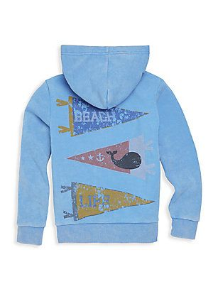 BUTTER - Little Boy's & Boy's Mineral Wash Surf Hoodie