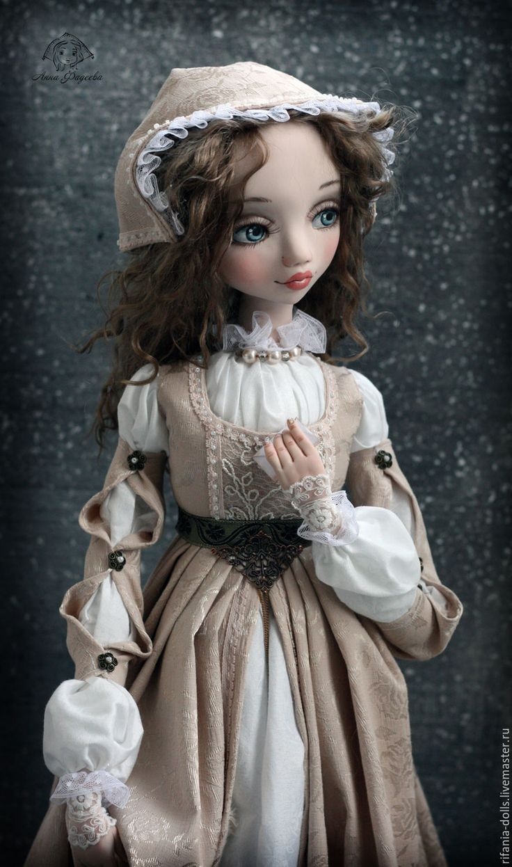 Купить Джульетта - коллекционная кукла, оригинальный подарок, ручная работа, кукла с душой, нежность, бежевый