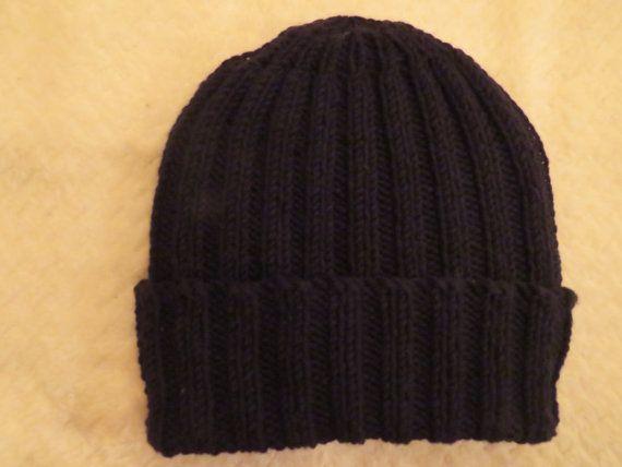 Black merino wool Longshoreman's toque