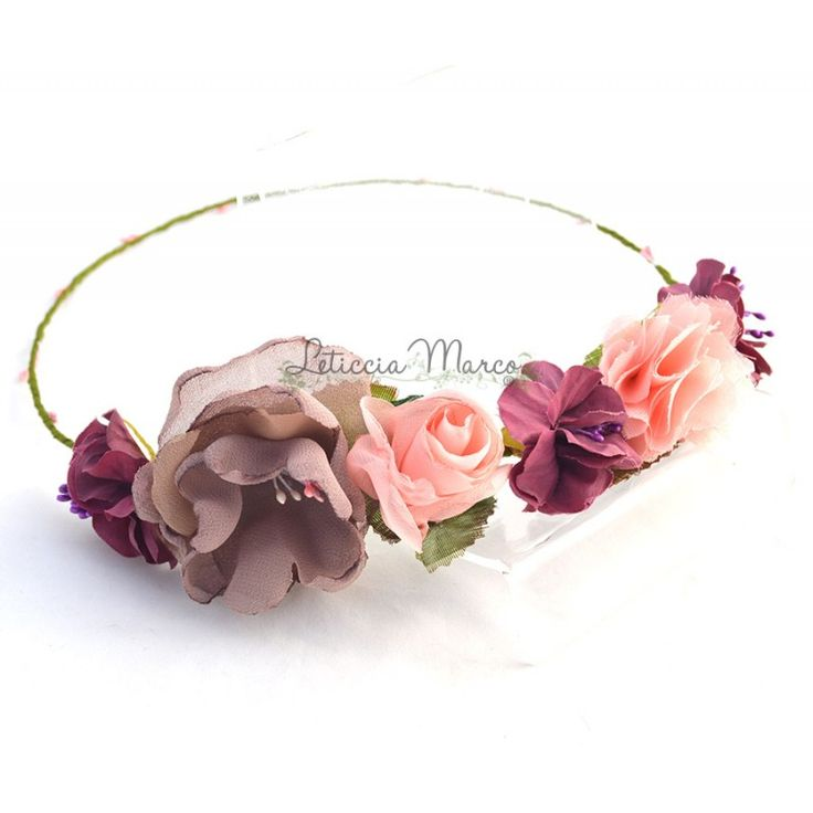 Corona de flores para damas de honor