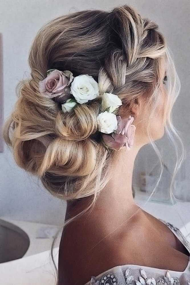 Mind-Blowing French Crown Braids Updos #updo #braids #promhairstyles ❤️ See our collection of elegant prom hair updos, as this important event is approaching and you need to start preparing. Catch some inspiration! ❤️ #lovehairstyles #hair #hairstyles #haircuts