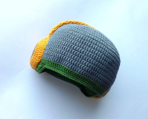 Made to order. Dj hat Boy hat. Baby boy hat. Gray by EdithCrochet, $27.00
