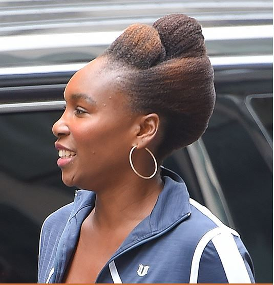 She Slayed That! - Venus Williams Debut's A Totally Cute Natural Hair Updo Read the article here - http://www.blackhairinformation.com/general-articles/celebrities/she-slayed-that-venus-williams-debuts-a-totally-cute-natural-hair-updo/