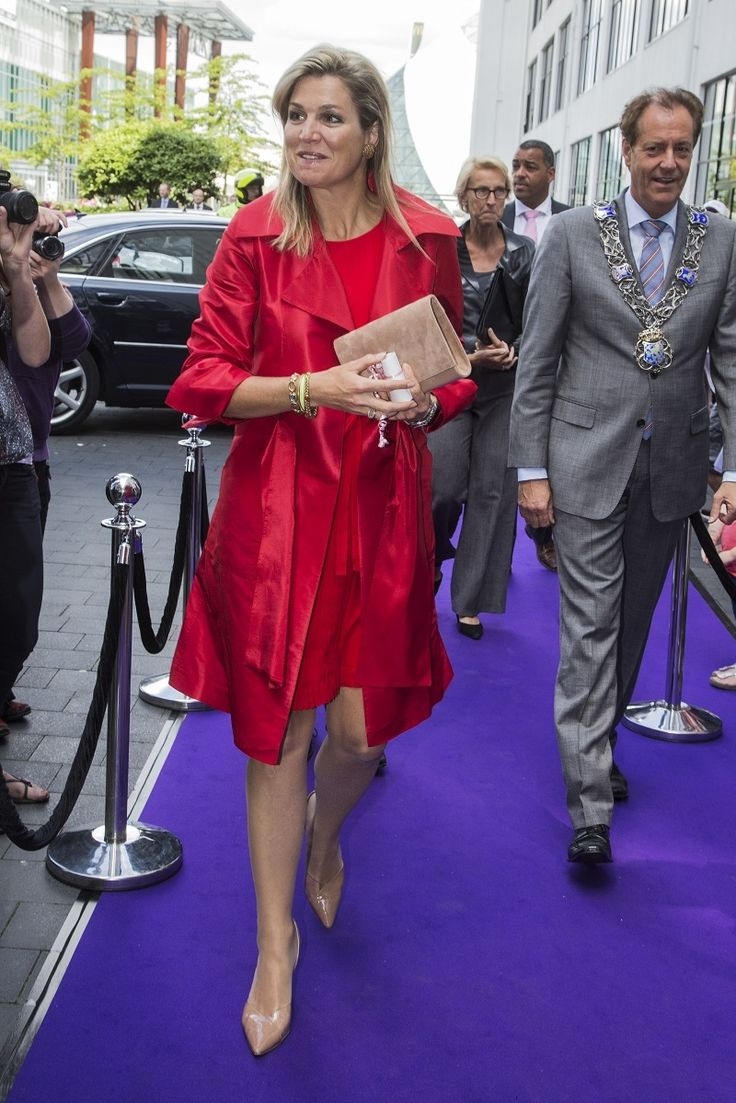 Maxima's best colors - Wow, quite a dynamic look - great color red for Maxima - 23 juni 2014, Eindhoven