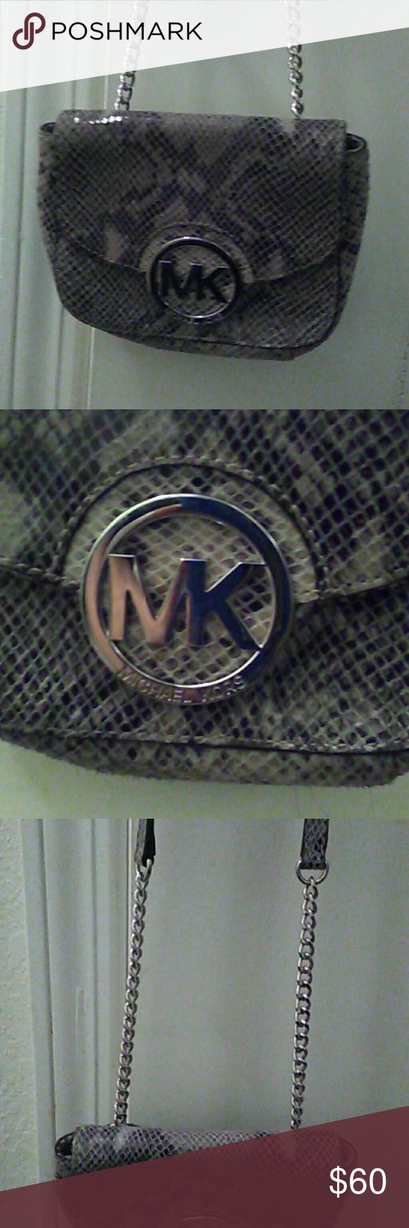 WEEKEND DEAL! MICHAEL KORS CROSSBODY Snakeskin crossbow handbag MICHAEL KORS  Bags Crossbody Bags
