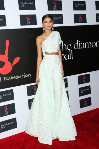 Zendaya in Rosie Assoulin. See all the best looks from the Diamond Ball: