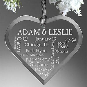 Our Life Together Personalized Couples Ornament