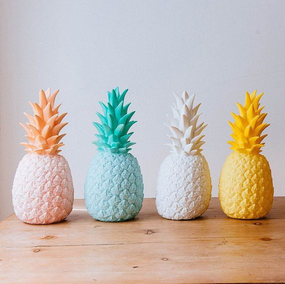 Pina Colada Lamp Pastel Pink Contemporary Pineapple by FigoHome
