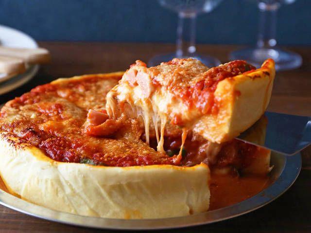【簡単レシピ】チーズとろ~りでボリューム満点なシカゴピザ