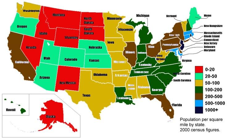 population density 2012 usa - Bing Images