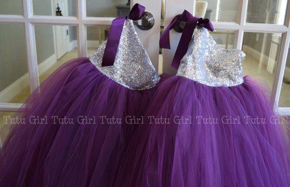 Eggplant Flower Girl Dress-Plum Tutu-Eggplant Girl Dress-Plum Bride Dress-Eggplant Birthday Dress-Plum Girl Dress-Eggplant Tutu-Plum Tutu