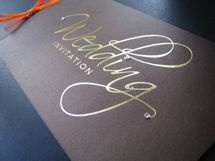 Cheque book wedding invitation with tear out RSVP