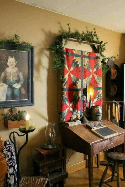41 best images about primitive desks on pinterest early for American country style interior design