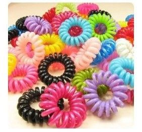 10pcs/lot Telephone cord headband mm hair accessory phone strap hair rope wholesale hair  accessories for women girl #Affiliate
