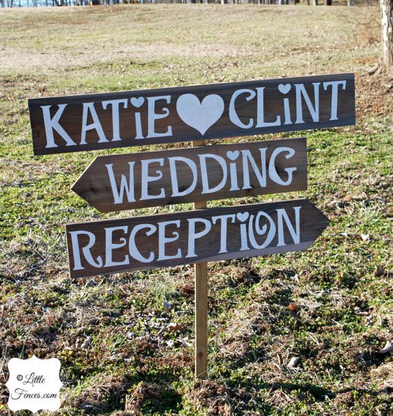 Wedding Sign Rustic Wedding Sign Personalized Wedding Sign Wooden Wedding Sign Arrow Wedding
