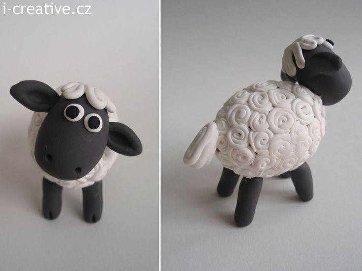 Sheep Shaun from Polymer Clay / Ovečka Shaun z vyfouklého vajíčka a polymerové hmoty.