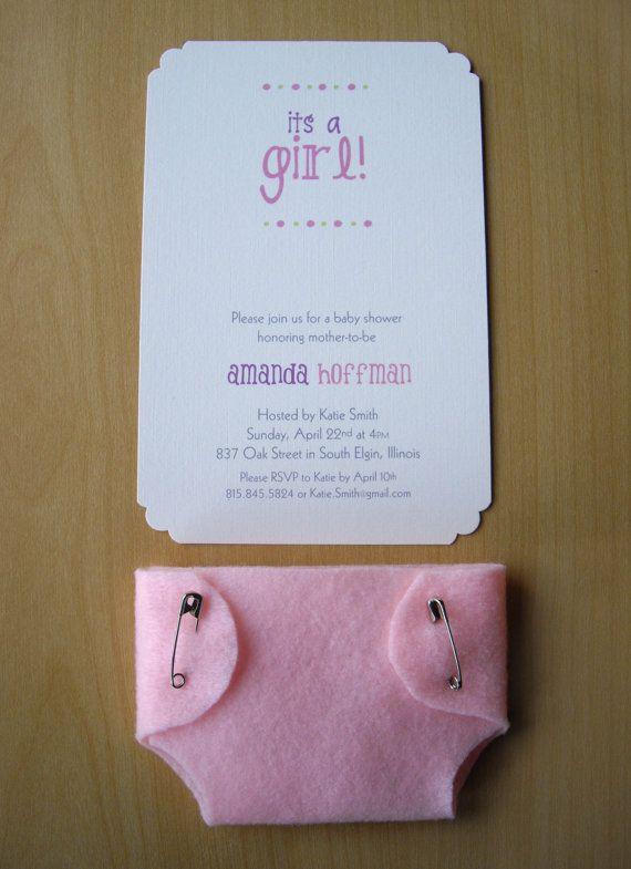 Muchacha ducha invitaciones linda rosa del por HelloAgainStudio