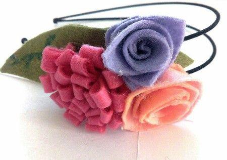 Cerchietto con fiori personalizzabile - ART.014