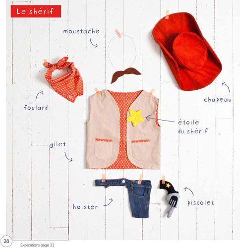 Déguisements et jouets en tissu par Virginie Desmoulins : Cow Boy #deguisement #couture #diy
