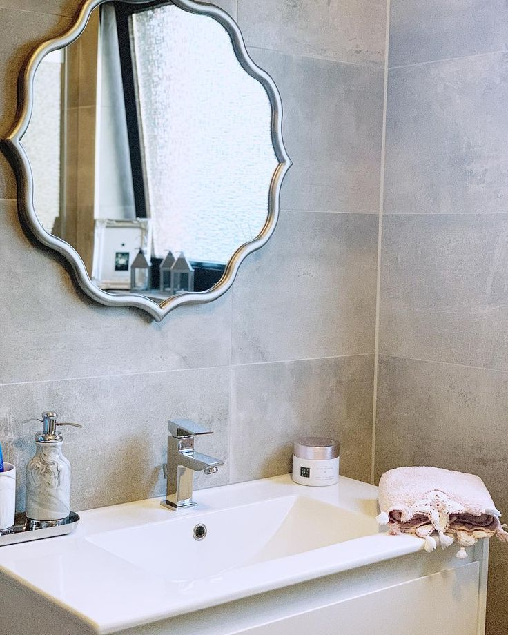 Bath Grey Bathroom Interiordesign Interior Decoration Decor