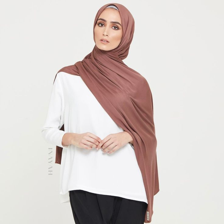 INAYAH   Soft and easy to style - Matte Mink Soft Touch Rayon Light Grey Jersey Drawstring Hijab Cap www.inayah.co
