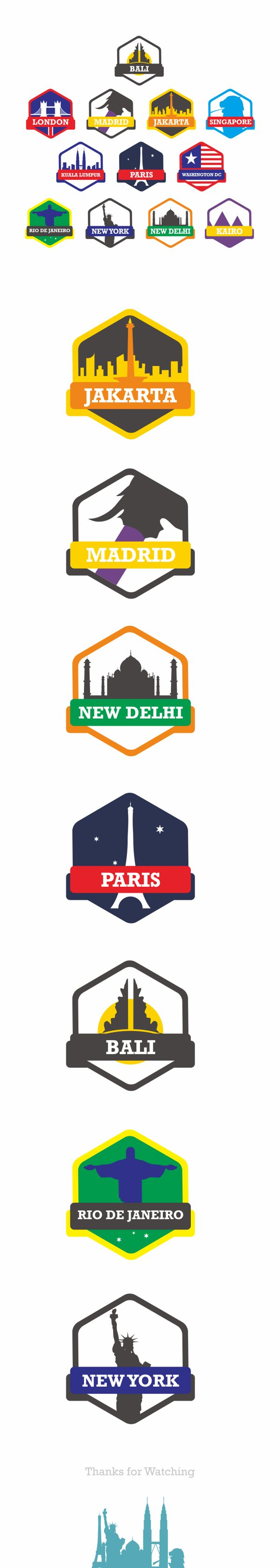 City Badges and Icons on Behance