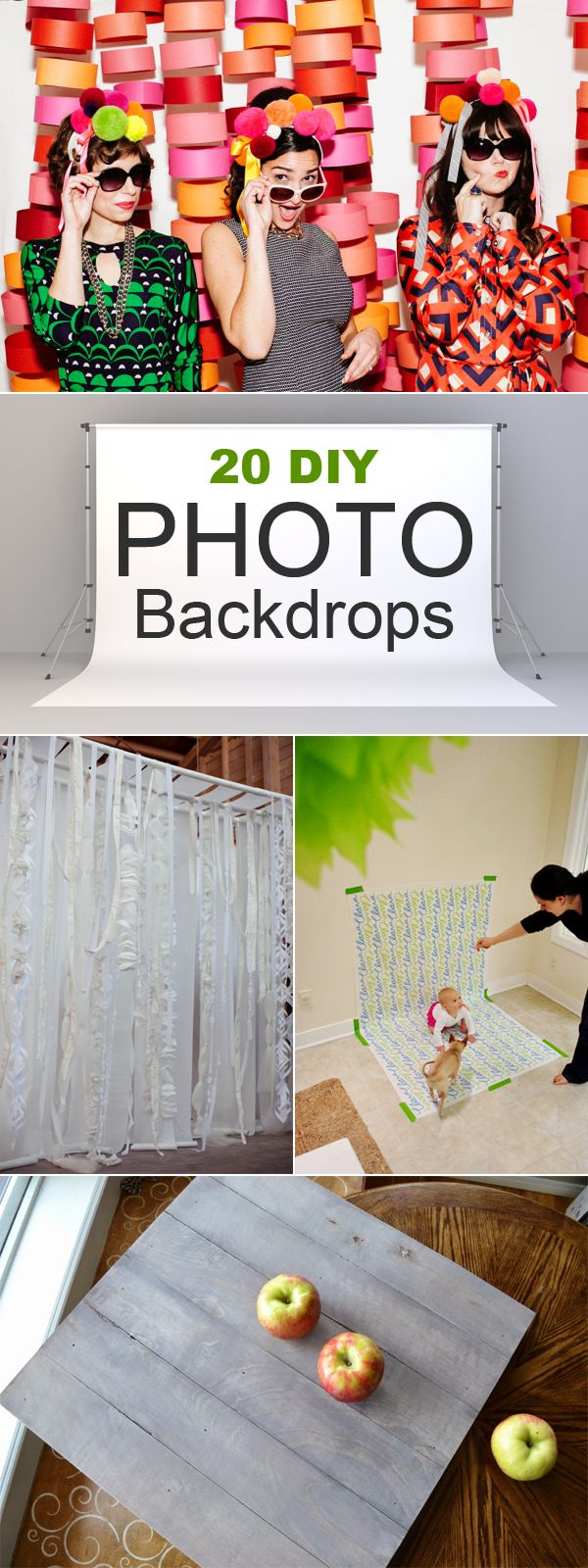 Burlap curtains are you kidding me what a backdrop - 20 Diy Photo Backdrops That Will Make Your Photos Beautiful