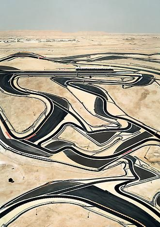 Andreas Gursky Bahrain I 2005 C-print mounted on plexiglas in artist's frame 118 7/8 x 86 1/2 inches; 302 x 220 cm