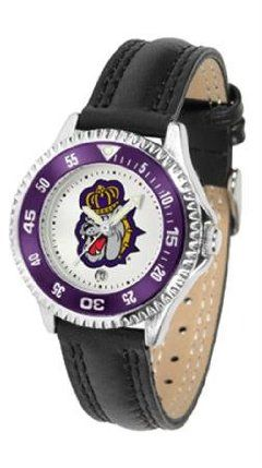 James Madison Dukes JMU NCAA Womens Leather Wrist Watch by SunTime. $72.95. Showcase the hottest design in watches today! A functional rotating bezel is color-coordinated to compliment your favorite team logo. A durable long-lasting combination nylon/leather strap together with a date calendar round out this best-selling timepiece.