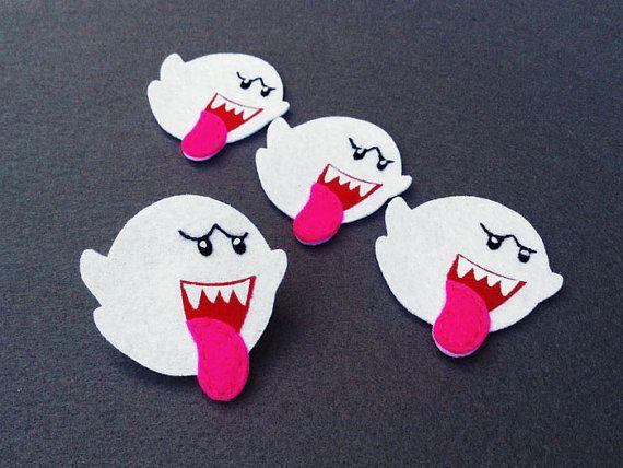 Boo Mario brothers apliques de fieltro (Set de 4 piezas)