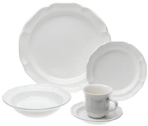 Mikasa French Countryside 45-Piece Dinnerware Set, Service f