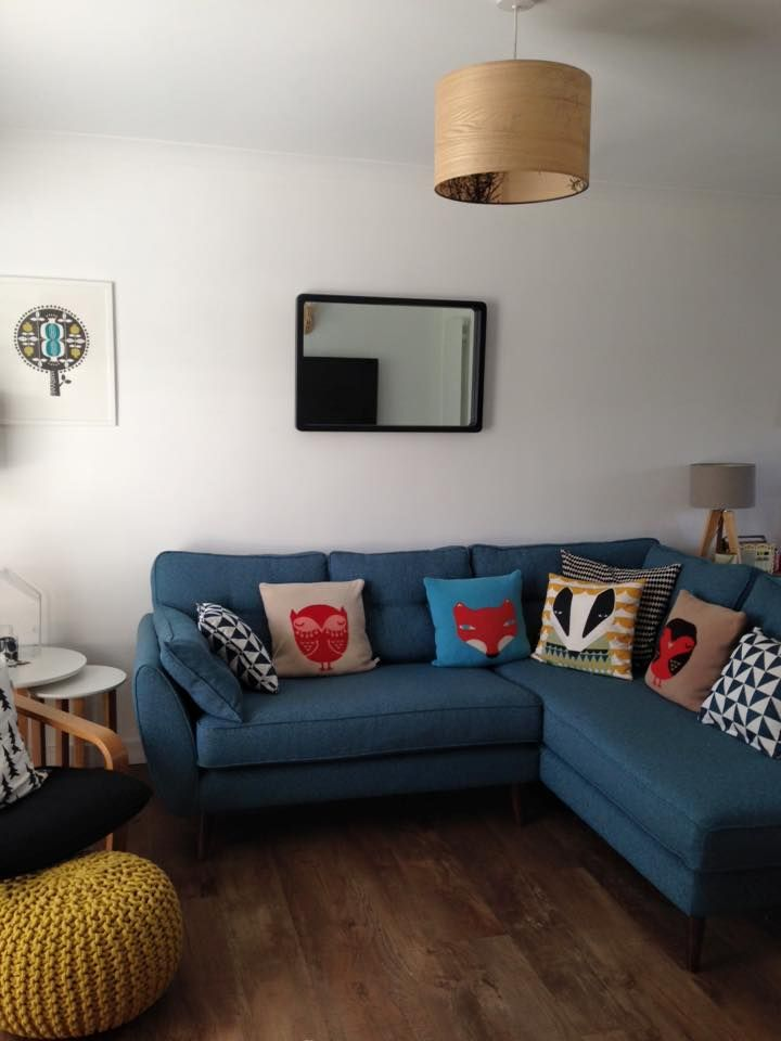 My Living Room French Connection Zinc Sofa Donna Wilson Cushions John Lewis Mirror