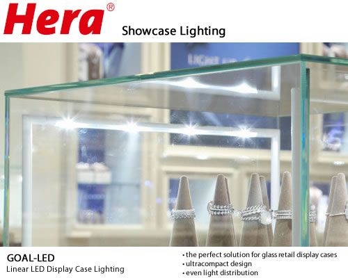 34 best commercial lighting images on pinterest commercial hera goal led showcase lighting the new goal led is is available in six lengths and three heights it gives even light distribution throughout the entire aloadofball Gallery