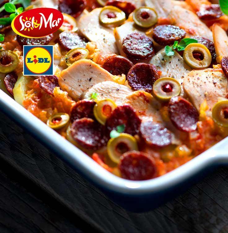 Zapiekanka z kurczakiem i chorizo. Kuchnia Lidla - Lidl Polska. #lidl #solandmar #chorizo #kurczak