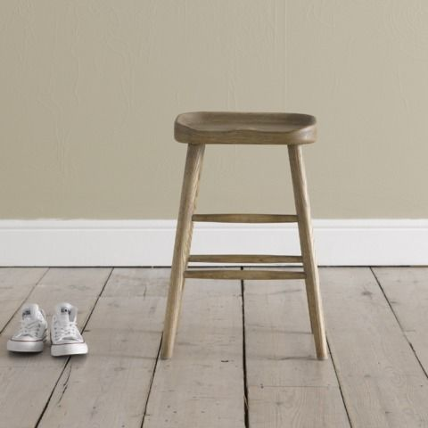 BUMBLE: Perfect for all you kitchen or office loiterers out there! We know who you are: you can run but you can't hide. This solid oak stool is given a good sand-blasting for a lived-in feel. Sold in pairs. #stool #chair #kitchen