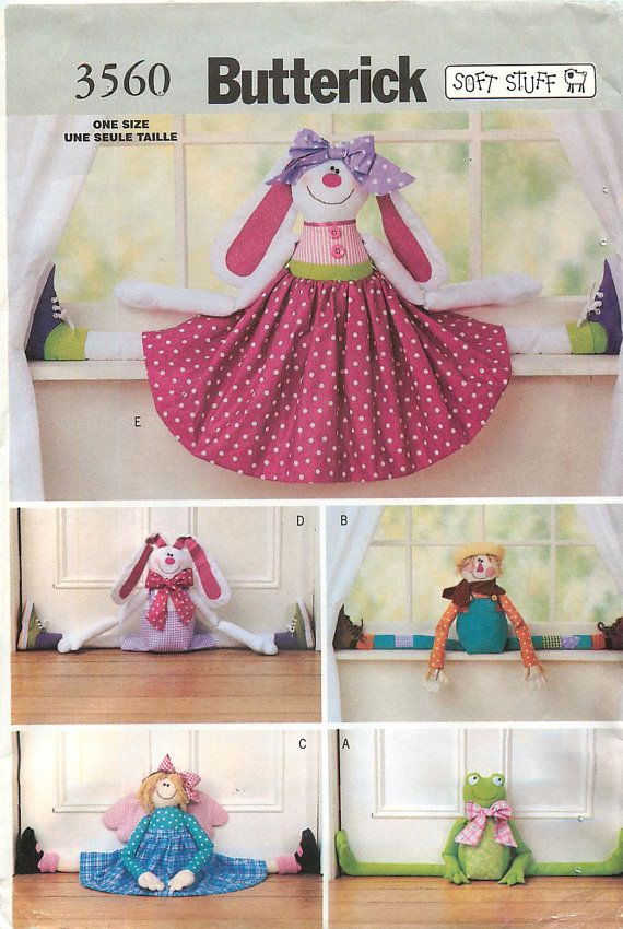 Butterick 3560 Soft Stuff Sewing Pattern for Draft Stopper Dolls  CA$5.40