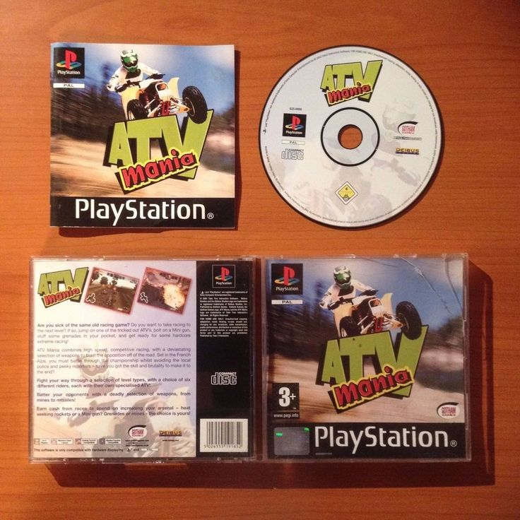 ATV MANIA - PlayStation - PS1 - Acceptable Condition - Tested and Working