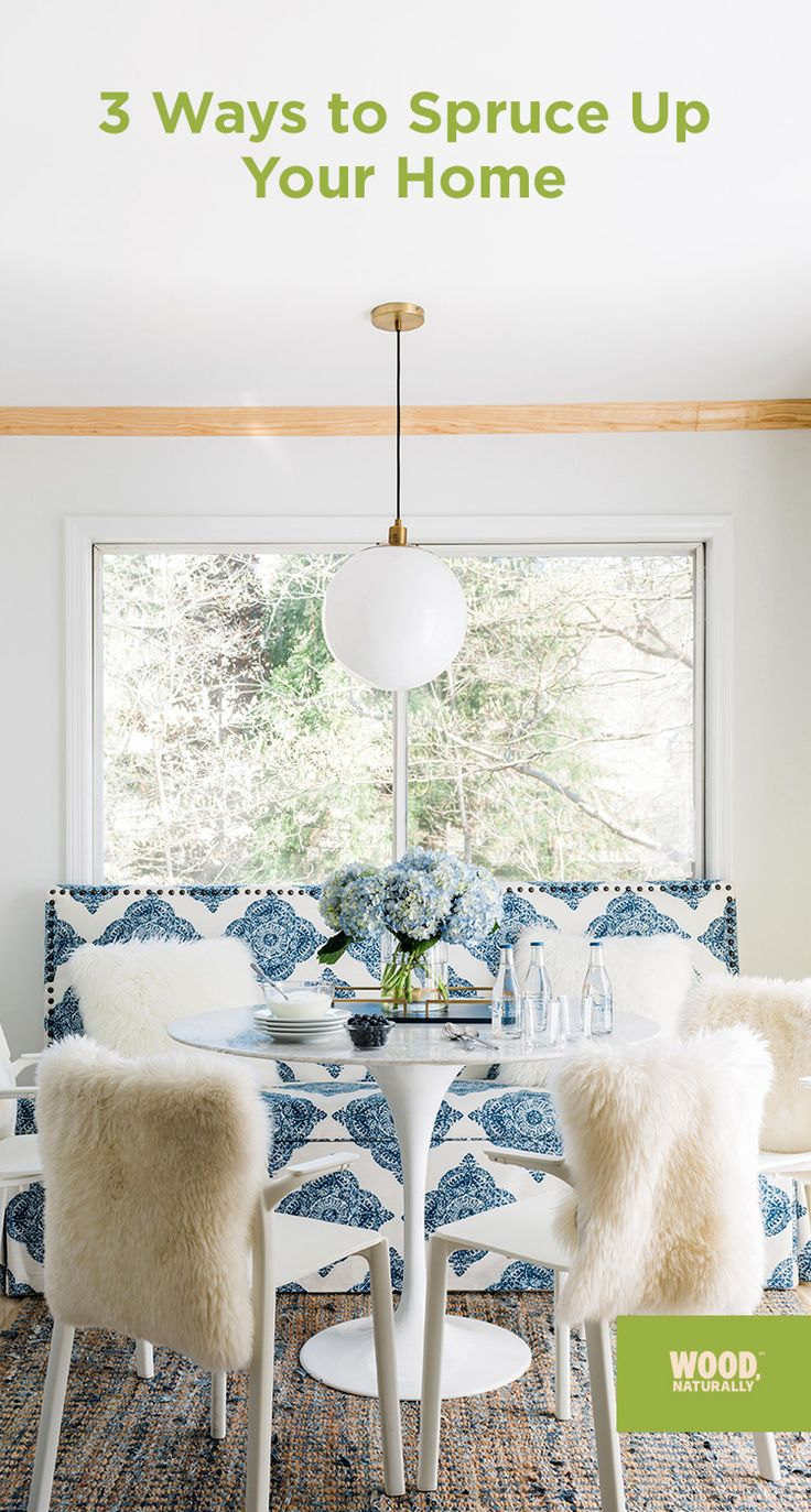 Spring is the perfect time to update your design -- inside and out! Click for three easy ways to spruce-up your home.