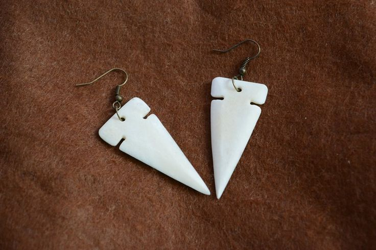 Arrow tipped earrings.