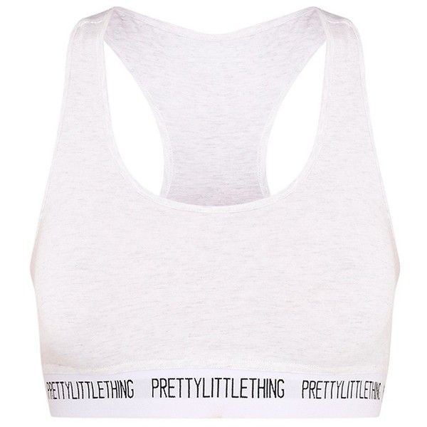 PrettyLittleThing Pearl Marl Sports Bra ($2.11) ❤ liked on Polyvore featuring activewear, sports bras, sport jerseys, athletic sportswear, white sports bra, white jersey and sports bra
