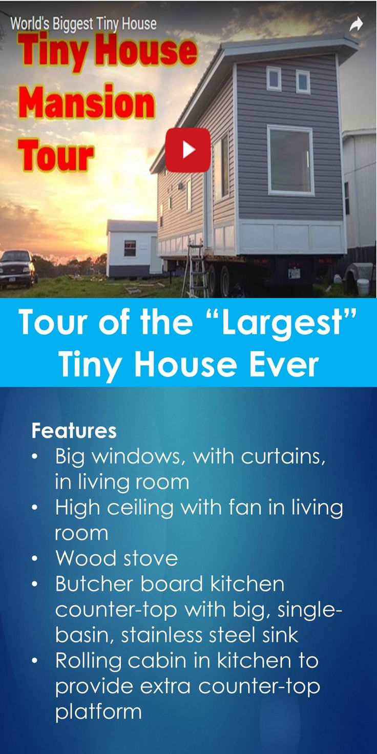 """Tiny House Tour: Tour of the """"Largest"""" Tiny House Ever   In This Guide, You Will Learn The Following; Biggest Tiny House On Trailer, Big Tiny Houses On Wheels, 40 Foot Tiny House, Tiny House Size Limit, Largest Portable Tiny House, What Is The Large Tiny House You Can Build On Wheels, Tiny House Gooseneck Trailer Plans, Largest Street Legal Tiny House, Etc."""