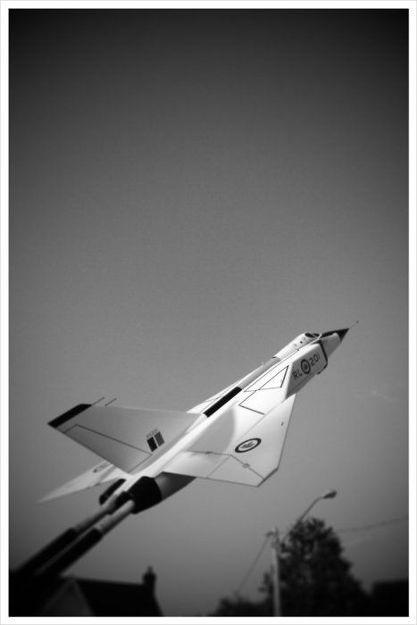 I had a model of this Canadian innovative supersonic interceptor, the Avro Arrow surpassed all comparable planes. Why was it cancelled is still a state secret, the US pressured then PM Deafinbaker(sic) to cancel the development of this revolutionary aircraft.