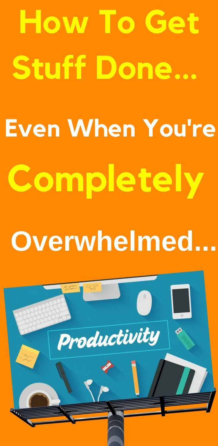 How To Get Stuff Done - Even When You're Completely Overwhelmed...  Hot #Productivity #Tips & Trips To Get You Back On Track  Ever had one of those days where you're busy, though don't know what you've achieved? Learn more...