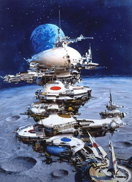 John Berkey. As a child of the 70s, Berkey's art made me a sci-fi fan for life.