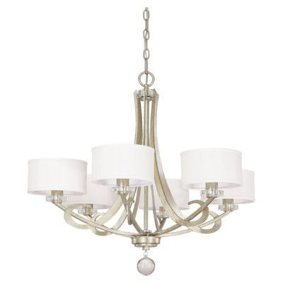 Capital Lighting Hutton 6 Light Chandelier with Shades