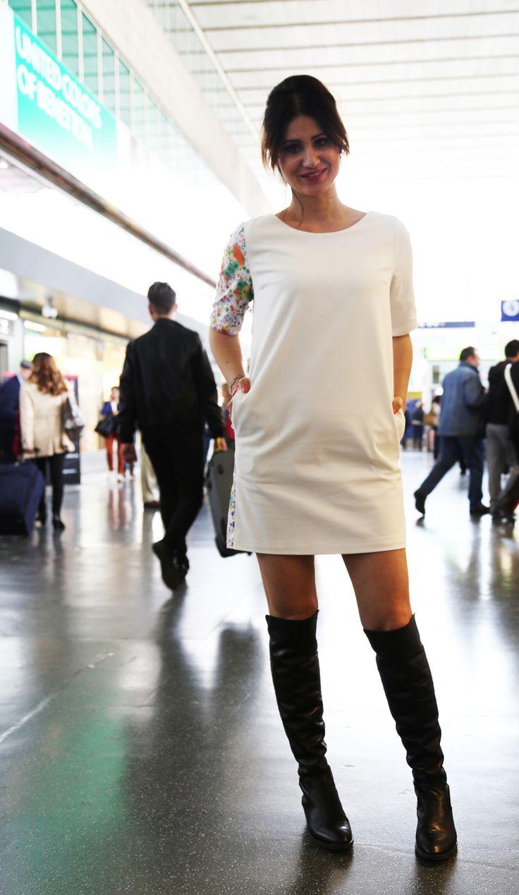 Lu2019outfit post di oggi u00e8 dedicato ad un abito che mi piace molto un tubino bianco dalla linea ...
