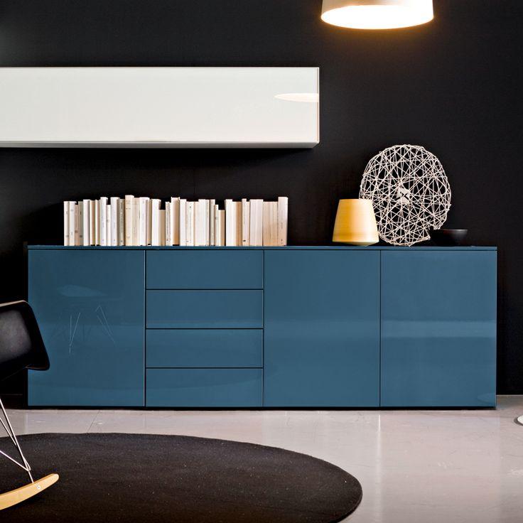 Mix Sideboard, 3 Door, 4 Drawer, (MS240B) 240cm