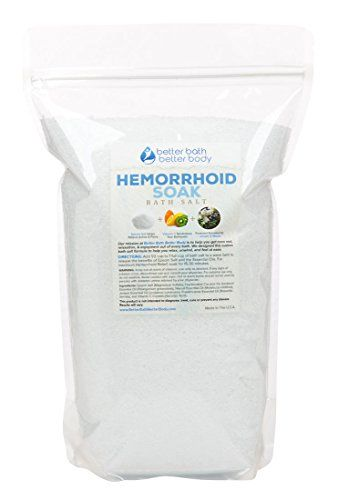 Hemorrhoid Soak Bath Salt 3 Pounds - Epsom Salt Sitz Bath With Juniper & Niaouli Essential Oils And Vitamin C Crystals - Sitz Bath For Hemorrhoid Treatment - Natural Ingredients No Perfumes No Dyes