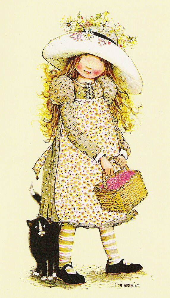 Holly Hobbie-wemoved to Wyoming in 2nd grade and I was overjoyed when we got to the new house and my bedroom had Holly Hobbie wall paper! :)
