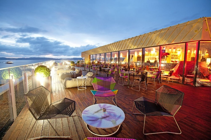 Gaze at the stars from Astrum Grill & Raw Bar at the new Clarion Hotel & Congress Trondheim.